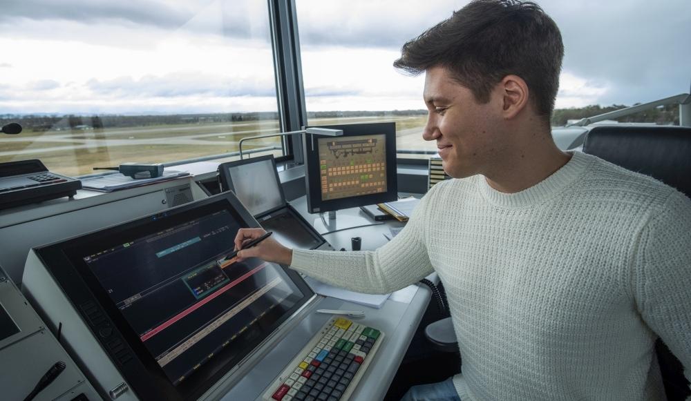 ADCON-TID im Einsatz am Flughafen.